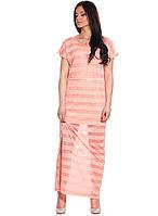 Изящное летнее платье с поясом (S-L в расцветках)