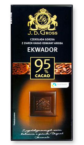 Шоколад чорний J. D. Gross Arriba Ekwador 95% 125 г, фото 2