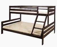 Трехместная двухъярусная кровать Микс венге