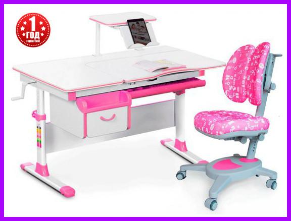 Комплект Evo-kids Evo-40 PN стол+ящик+полка+кресло Onyx Duo Y-115 APK