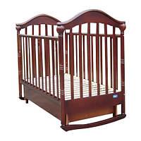 Детская кроватка-качалка Mioo BC-400 темный орех