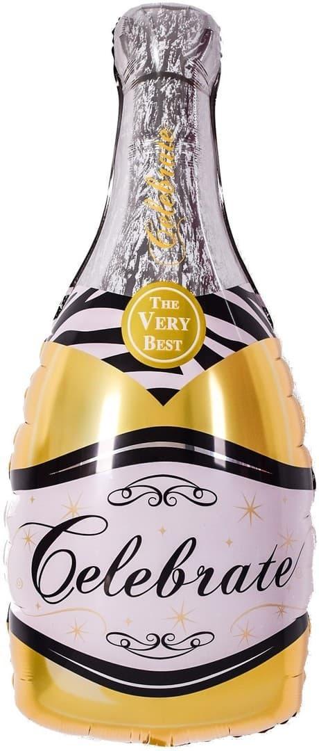 Фол шар фигура Бутылка шампанского Золото (Китай)