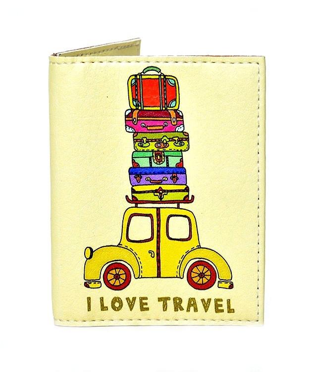 Обложка на ID паспорт Веселый багаж