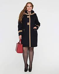 Пальто женское демисезонное, батал 2115-1 | 50, 52, 54, 56, 58, 60, 62, 64, 66, 68, 70размеры