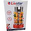 Электрошашлычница шашлычница Livstar LSU 1320 BBQ на 6 шампуров 1000W, фото 3