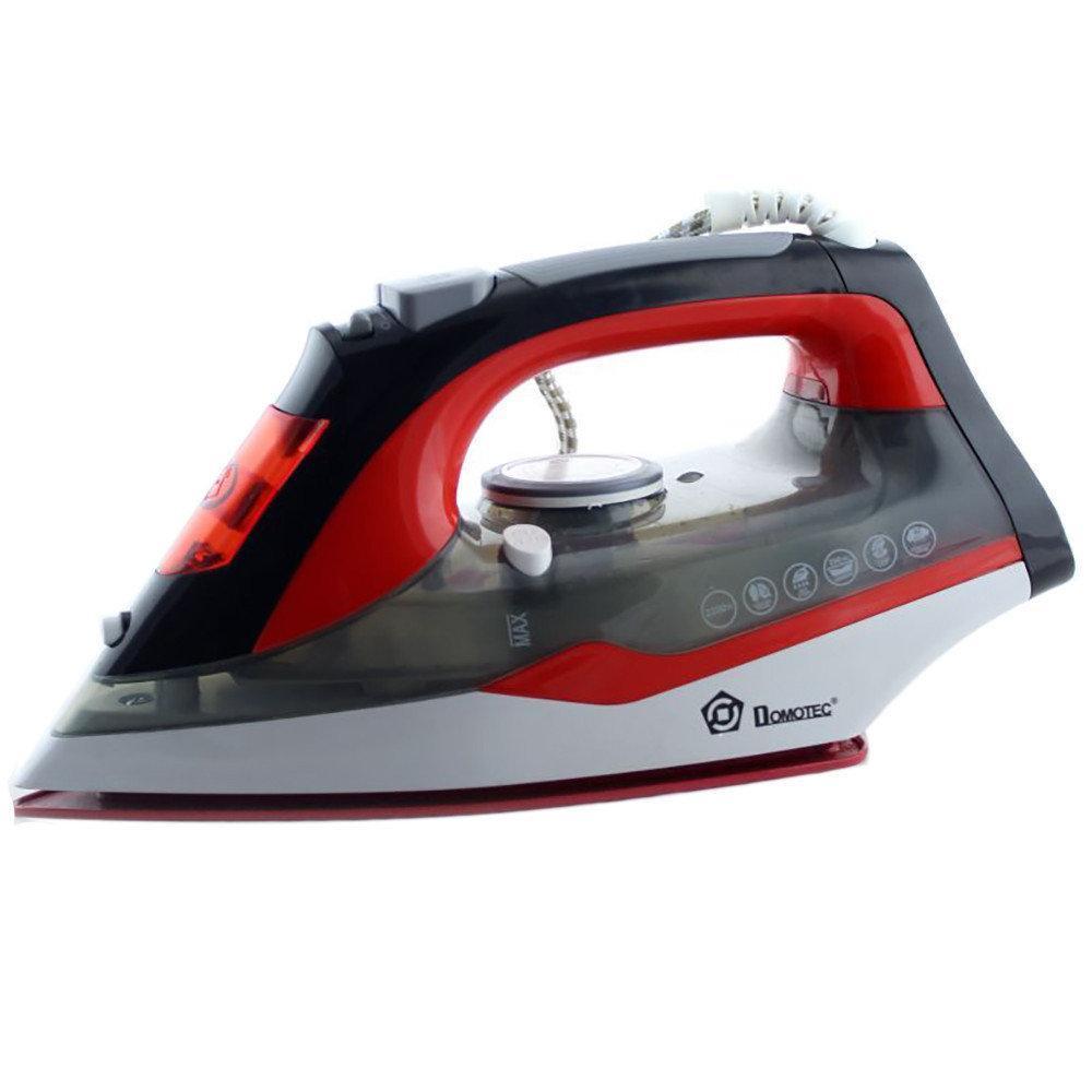 Паровой утюг ручной электрический с керамической подошвой Domotec MS 2202 керамический пароутюг красный