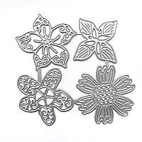 """Нож для вырубки """"Цветы 3D"""" набор из 4 шт для фоамирана, фетра и бумаги для скрапбукинга, фото 1"""