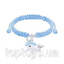 Браслет плетений UMa UMi Єдиноріг блакитний (419542400604)