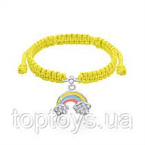 Браслет плетений UMa UMi Веселка жовта (419542500605)