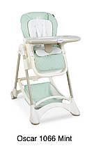 Детский стульчик для кормления El Camino ME 1066 OSCAR складной, кожа