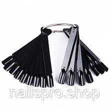 Палитра-веер для гель лаков (черная и розовая)
