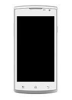 Оригинальный дисплей (модуль) + тачскрин (сенсор) с рамкой для Prestigio MultiPhone 4500 Duo (белый цвет)