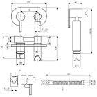 Набор для гигиенического душа встроенного монтажа цвет хром Q-tap Inspai-Varius V00440501 CRM, фото 2