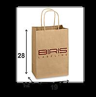 Крафтовый пакет с Вашим логотипом 190х120х280