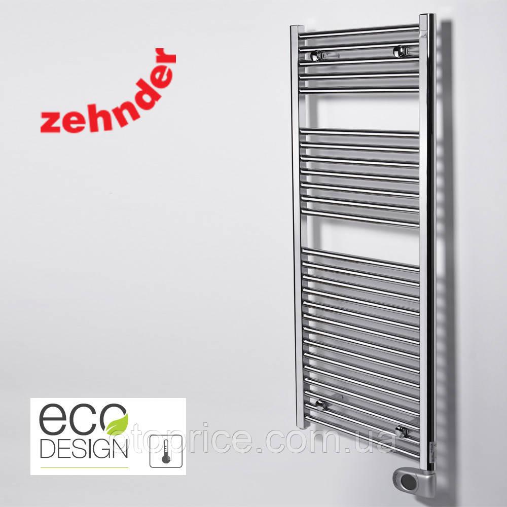 Немецкий электрический полотенцесушитель Zehnder Aura 500 x 1226, хром с программируемым тэном
