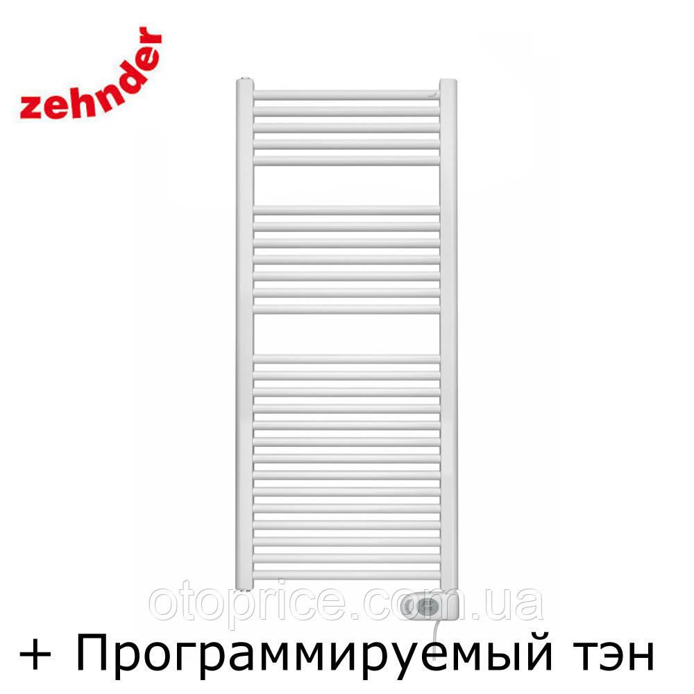 Німецький електричний полотенцесушитель Zehnder Aura 500 x 1226, білий з програмованим теном