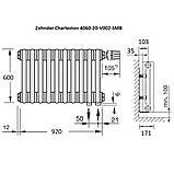 Zehnder Charleston горизонтальный радиатор центрального отопления 1196 x 600 x 100 БЕЛЫЙ, 16-18 кв., фото 3