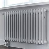 Zehnder Charleston горизонтальный радиатор центрального отопления 1196 x 600 x 100 БЕЛЫЙ, 16-18 кв., фото 4
