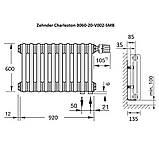 Zehnder Charleston Радиатор горизонтальный центрального отопления 920 x 600 x 100 БЕЛЫЙ 13-15 кв., фото 3