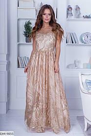 Шикарное роскошное платье в пол с облегающим верхом и пышной юбкой Размер: S, M, L