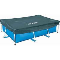 Тент для каркасных бассейнов Intex Rectangular Frame 28038, 300х200 см Blue