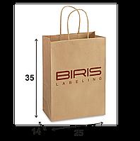 Крафтовый пакет с Вашим логотипом 250х140х350
