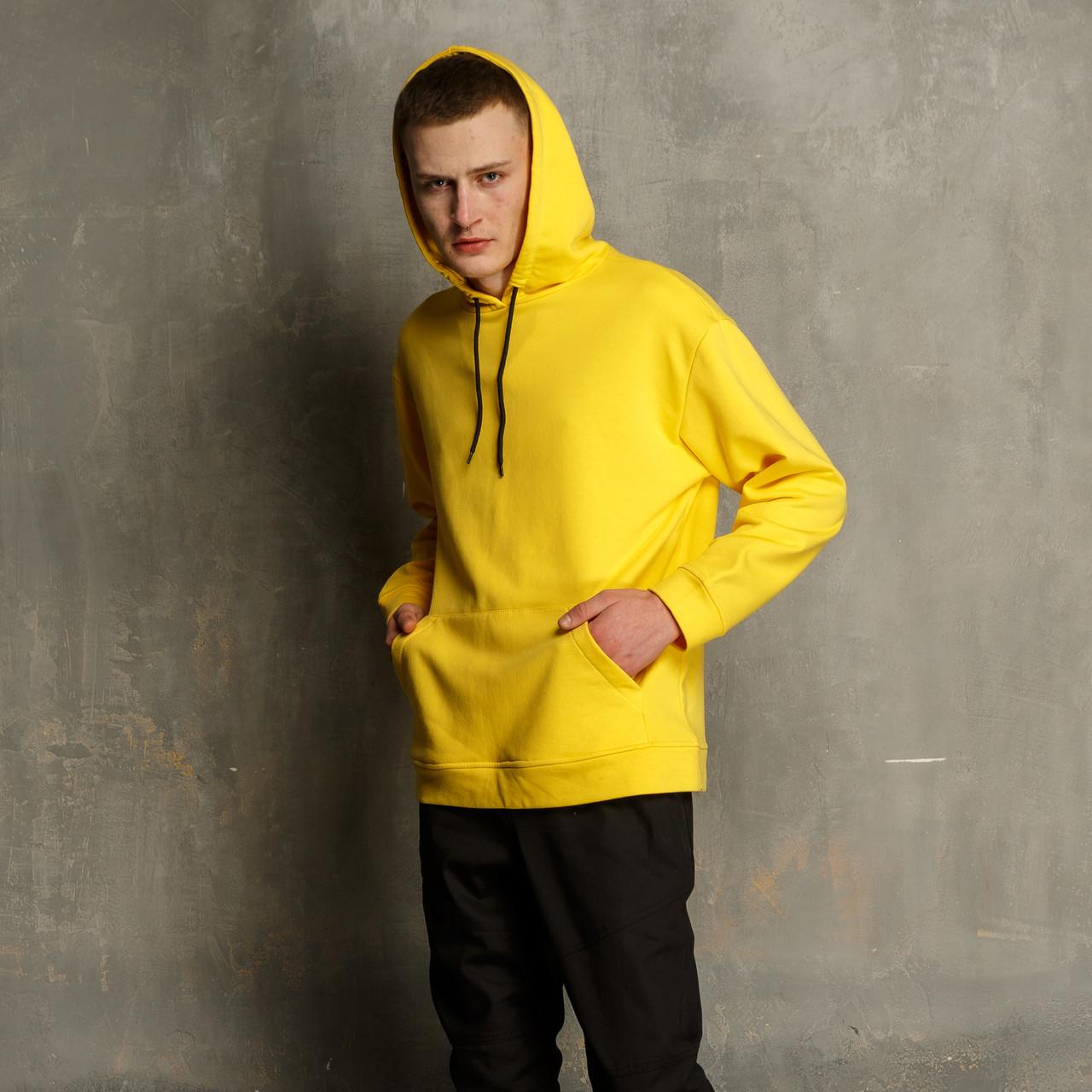Худи мужское желтое Крейг от бренда ТУР
