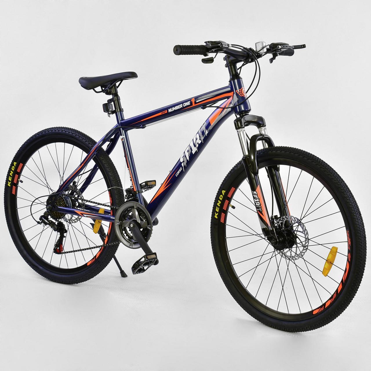 Велосипед Спортивный CORSO 26 дюймов JYT 001-7894 SPIRIT синий/оранжевый