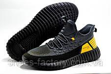 Мужские кроссовки Baas Yeezy Boost, Black\Gray\Orange, фото 3