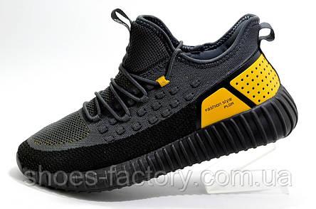 Мужские кроссовки Baas Yeezy Boost, Black\Gray\Orange, фото 2
