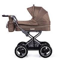 Универсальная коляска TILLY Family - Beige. Резиновые колеса