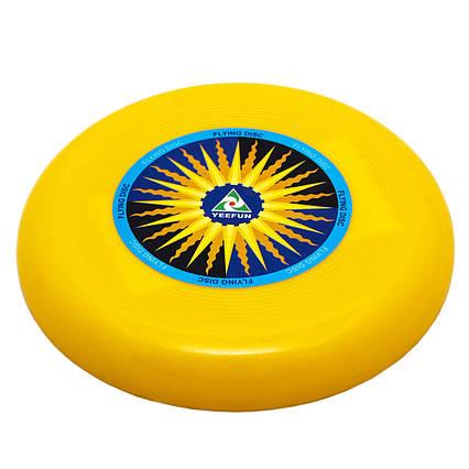 Фрисби, летающая тарелка, пластик, 15 см Желтый (DFD09004-4)