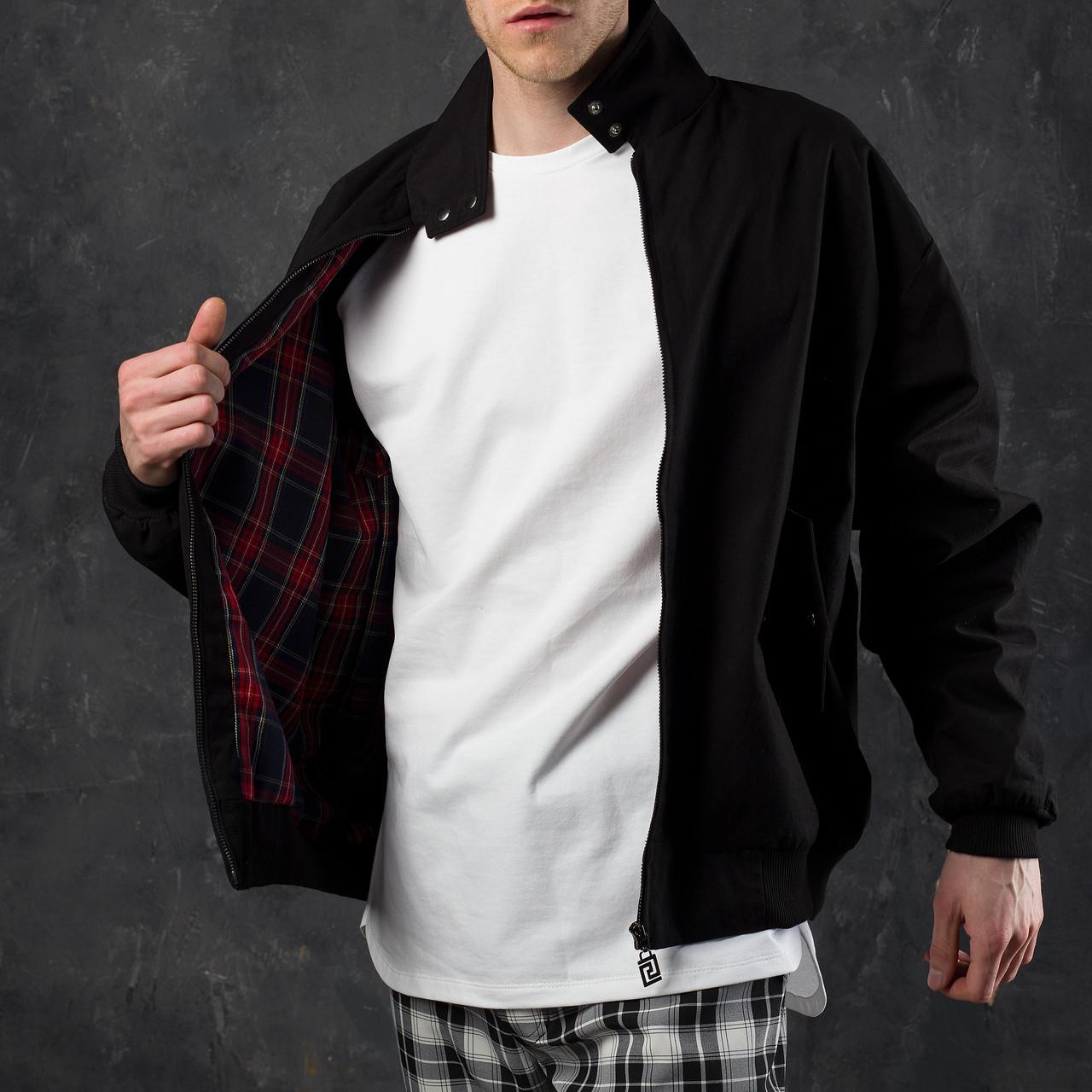 Куртка мужская черная на манжетах бренд ТУР модель Дуглас (Douglas)