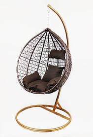 Подвесное кресло-качалка кокон B-183A (коричневое)