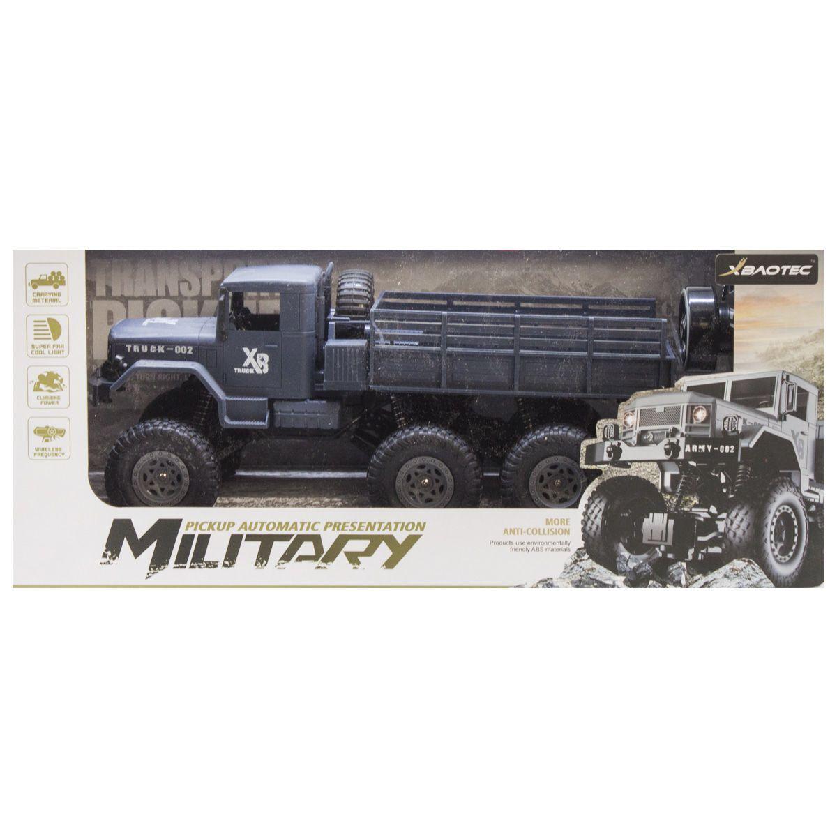 Машина Military Pickup на радиоуправлении (черный)