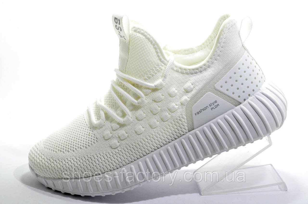 Женские белые кроссовки Baas Yeezy Boost, White