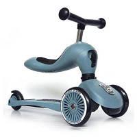 Скутер ScootRide Highwaykick-1 Сіро-синій (SR-160629-STEEL)