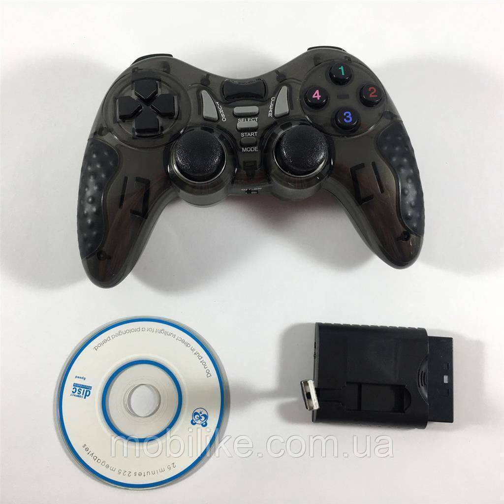 Геймерский Джойстик Wireless для PS2 PS3 PC Android TV Box (Черный)