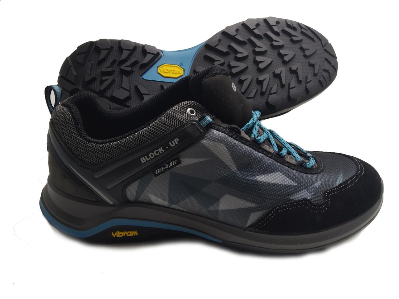 Мужские кроссовки Grisport Vibram 14325 (черно/голубой) ORIGINAL 100%