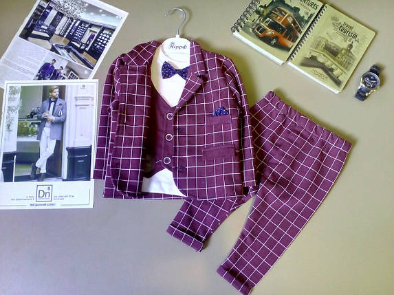 Нарядный костюм тройка на мальчика  джентельмен  6-18 мес., фото 2