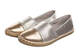 Сліпони жіночі Pretty 41 silver gold SKL35-187201