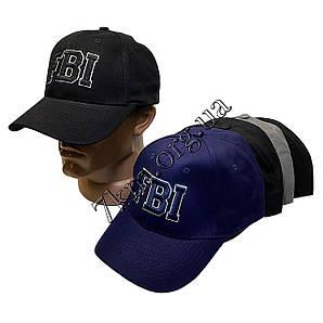 """Кепка мужская """"реплика FBI"""" 58 р. хлопок оптом 8252"""