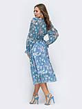 Платье -миди в цветочном принте из шифона, фото 8