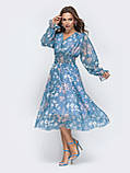 Платье -миди в цветочном принте из шифона, фото 7