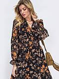 Платье -миди в цветочном принте из шифона, фото 4