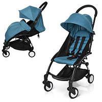 Детская коляска прогулочная El Camino цвет голубой, детские прогулочные коляски разные цвета