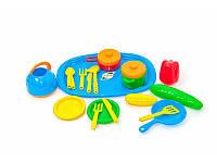Набор игрушечной посуды с подносом ТМ Орион 990-V-2