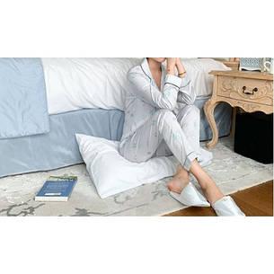 Пижама серая длинный рукав+штаны -326-03, фото 2