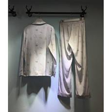 Пижама серая длинный рукав+штаны -326-03, фото 3