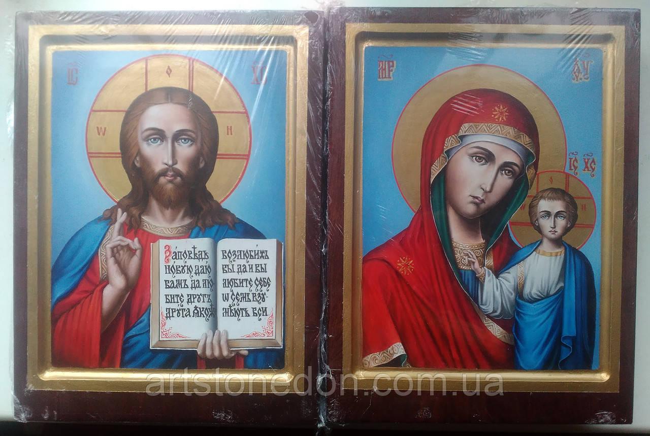 Иконы Венчальная пара писаная маслом на доске 24*18 см вариант №2